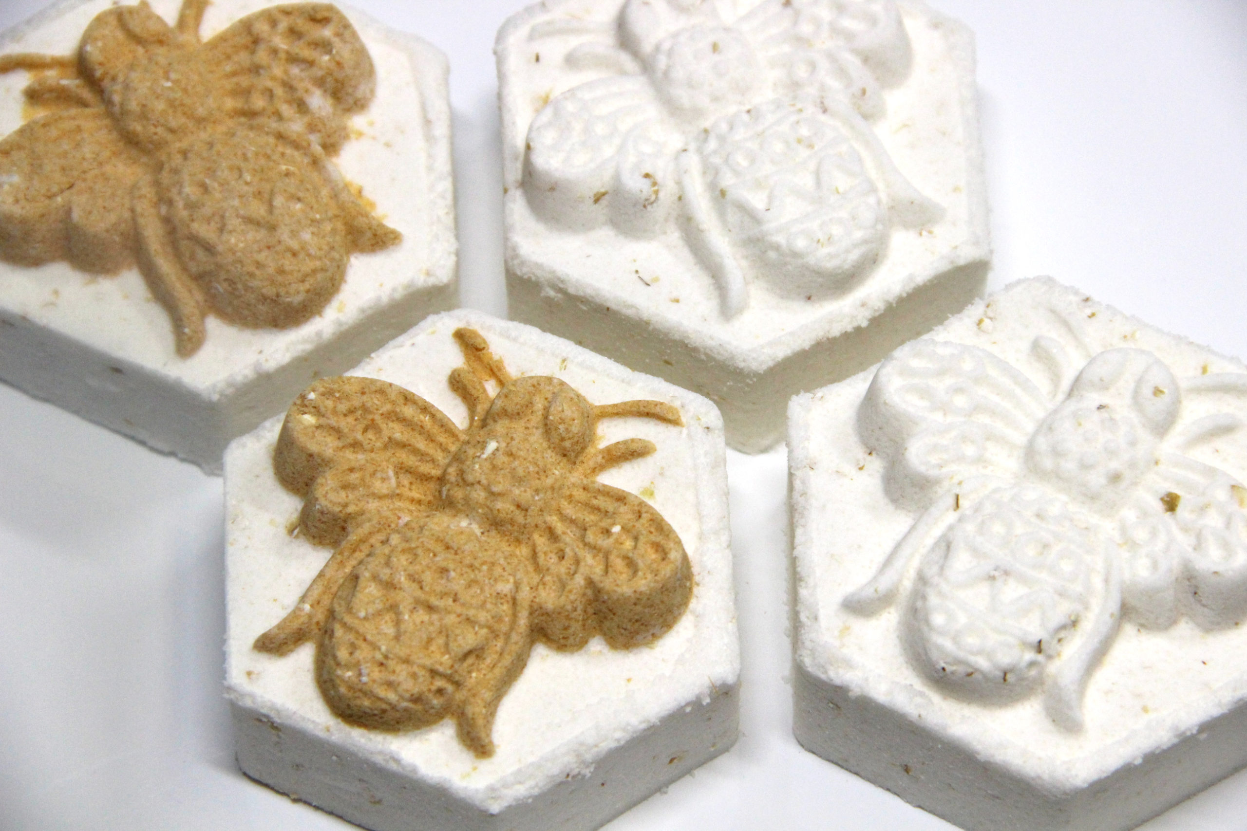 Honey Oat Bath Bombs with Electra-Press and Hex Mold