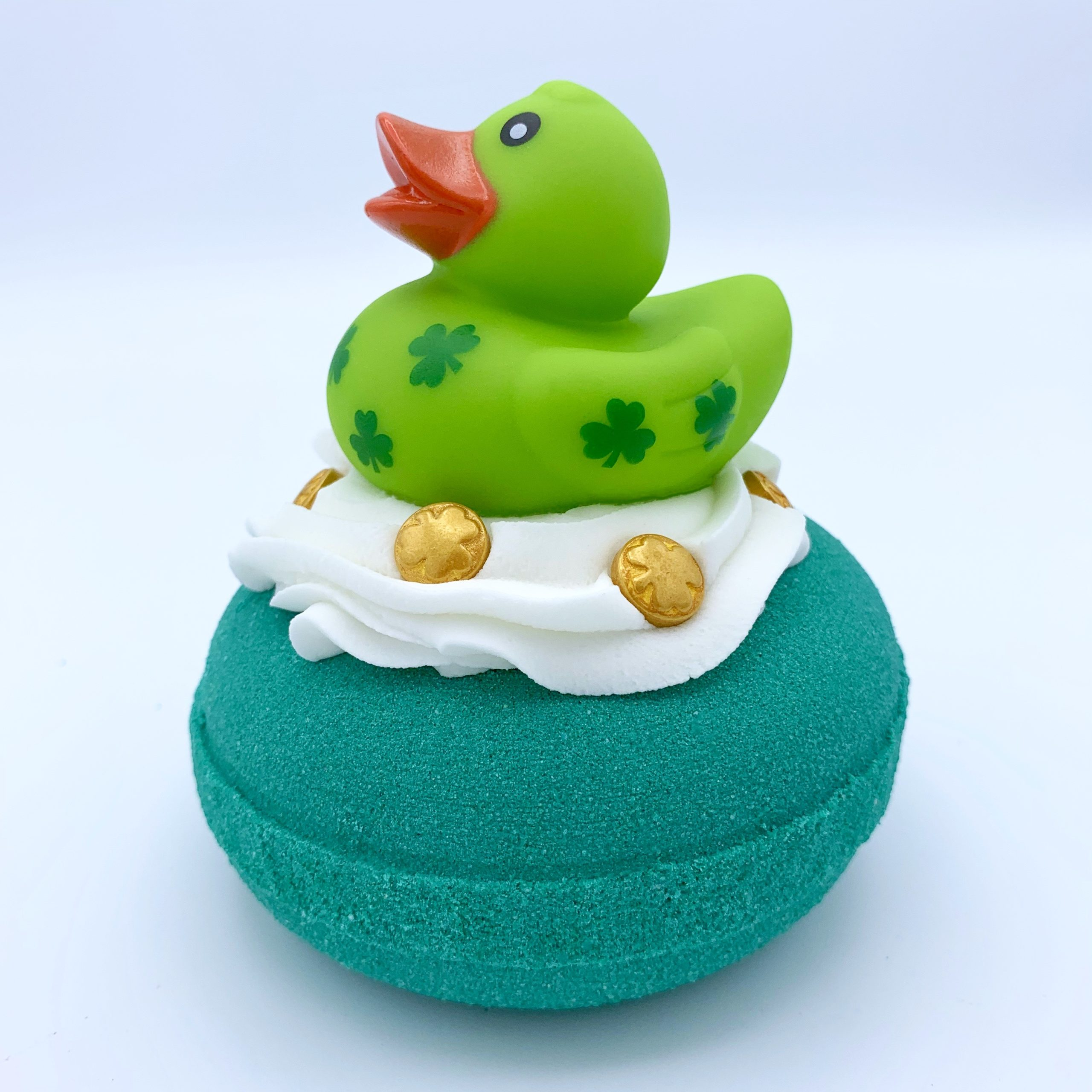 Duck of the Irish Bath Bomb with Bubble Frosting by Robyn