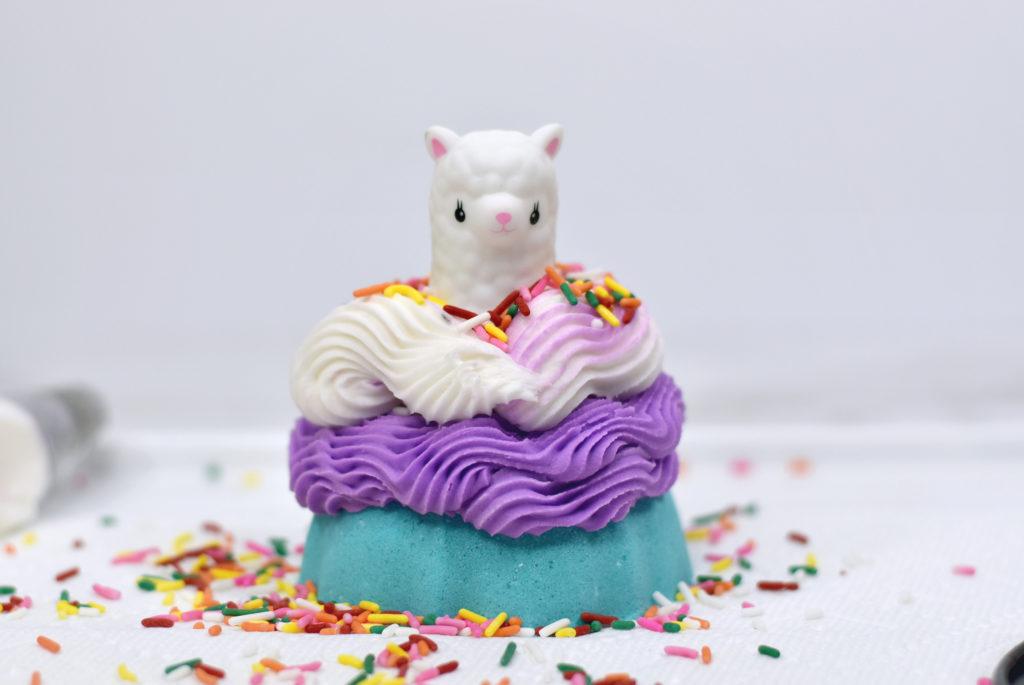 llama bath bomb and bubble bar