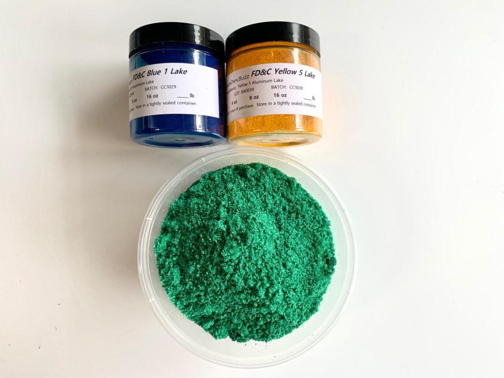 green bath bomb color