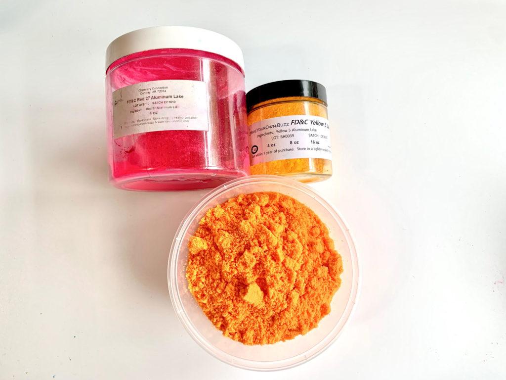 orange bath bomb color
