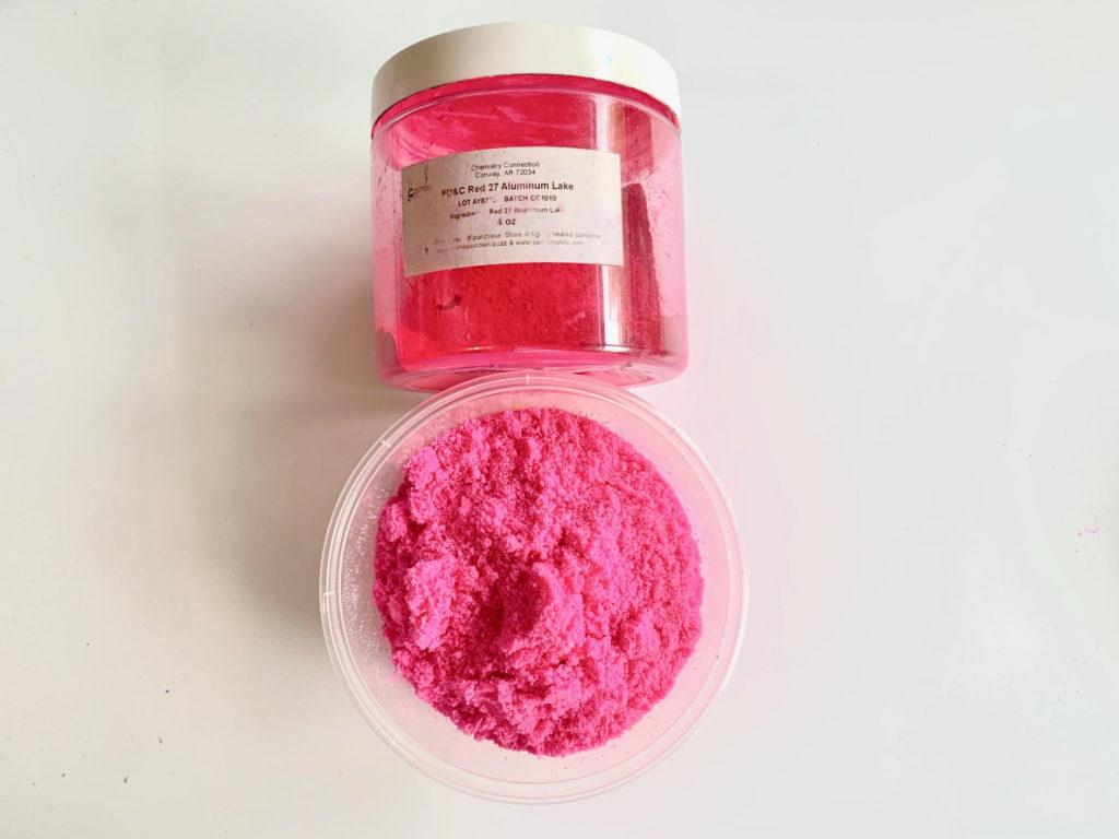 pink bath bomb color