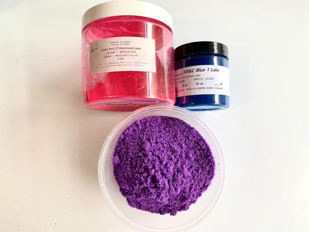 purple bath bomb color