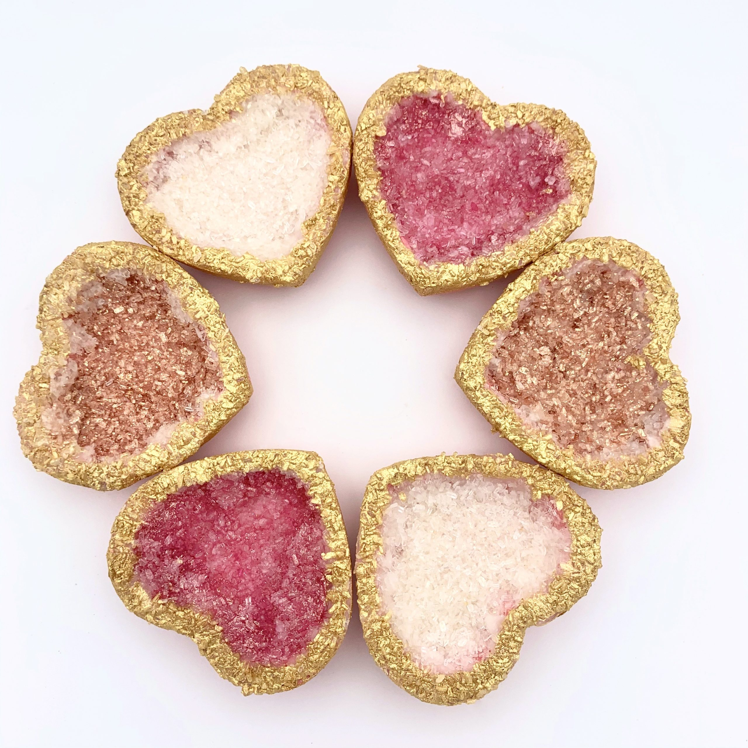 Geode Heart Bath Bombs by Robyn