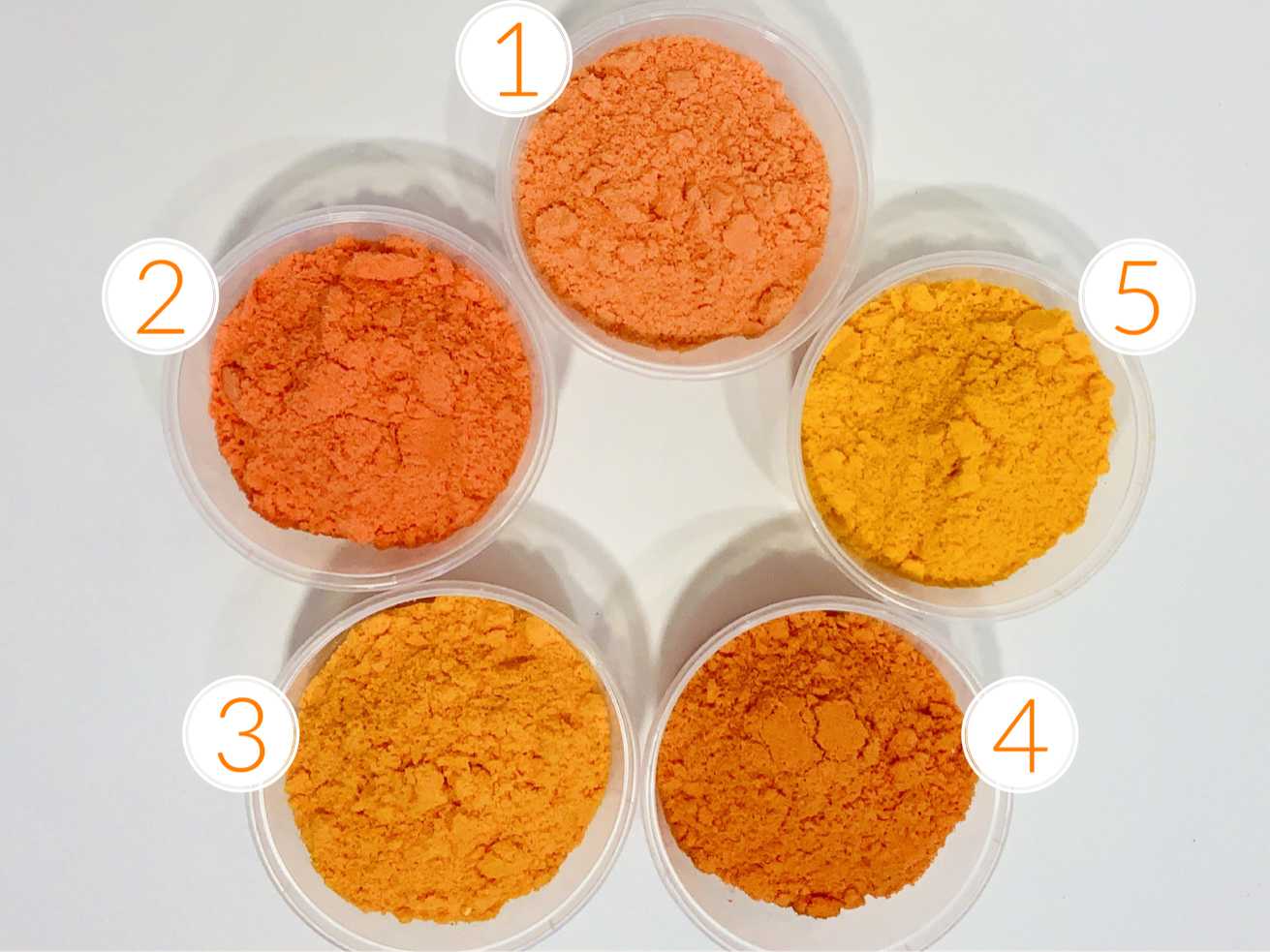 STUDY IN ORANGE: Creating the Perfect Orange for  Bath Bombs by Robyn