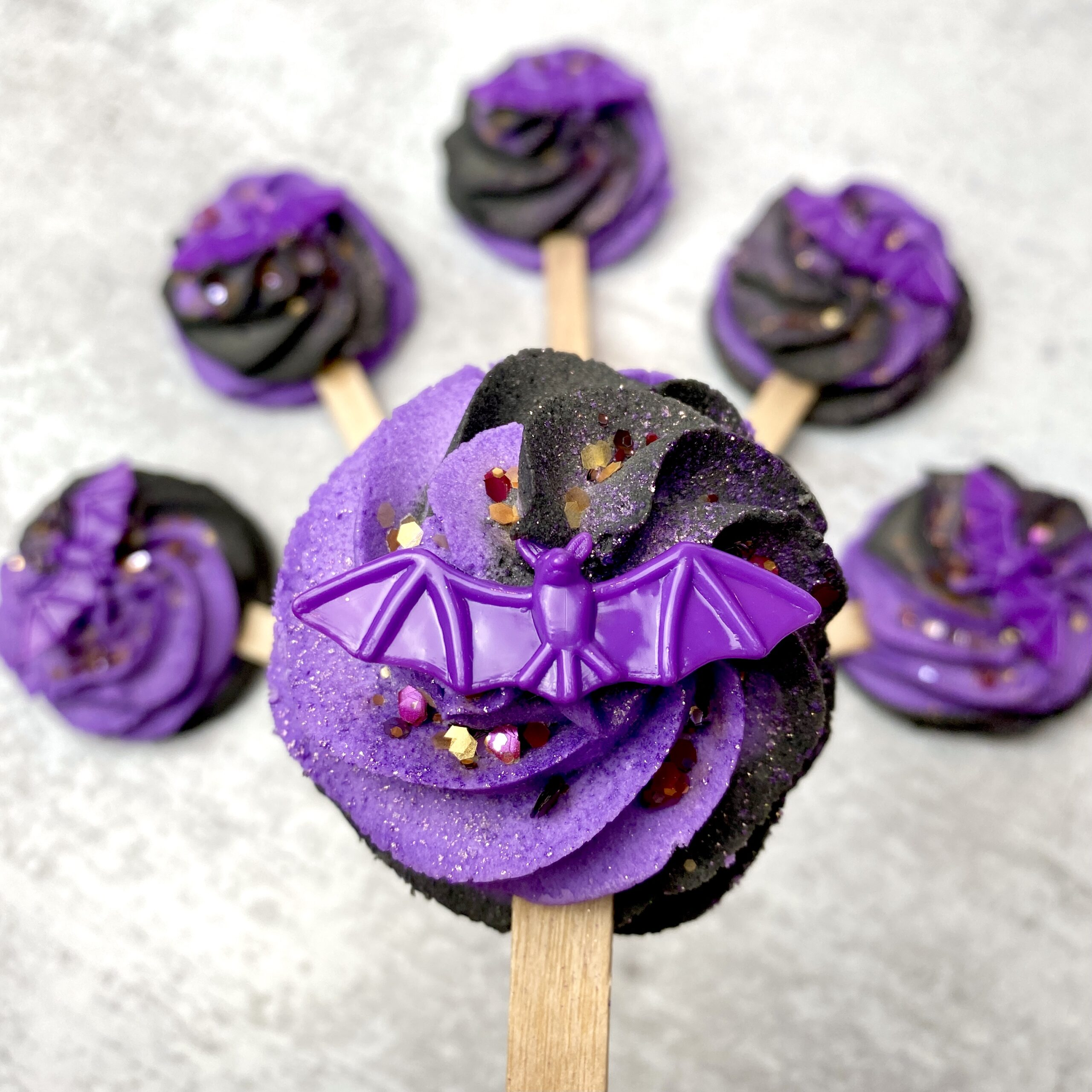 Purple and Black Bubble Bar Wands for Halloween